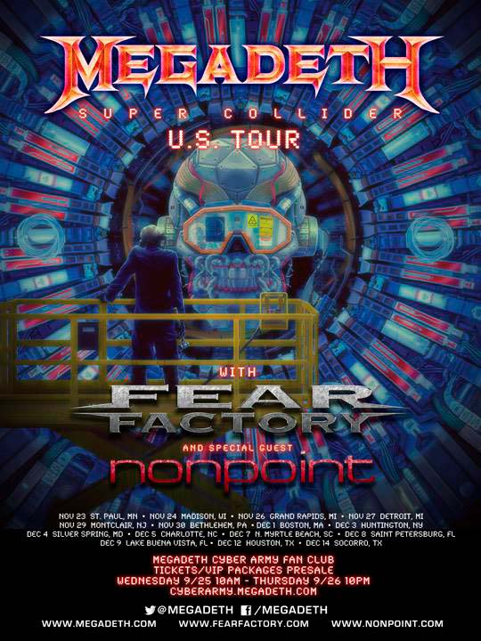Super Collider Tour с Megadeth и Nonpoint 2013
